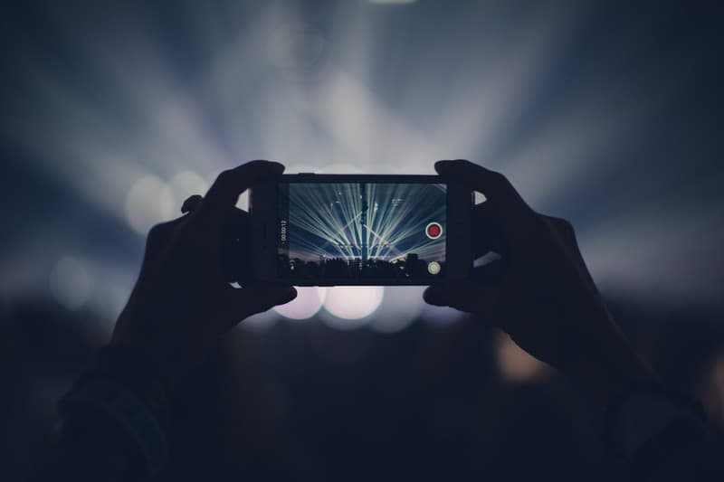 Taking a picture for a concert